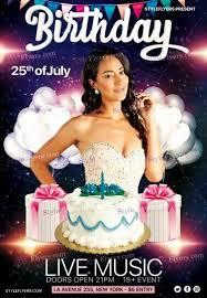 Birthday Flyers Birthday Party Psd Flyer Template