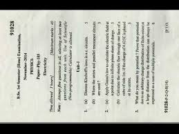 what does bsc stand for bsc 1st sem electricity paper