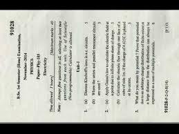 Bsc 1st Sem Electricity Paper