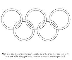 Sport Kleurplaat Olympische Spelen Ringen