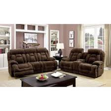 Furniture Of America Grenville Living Room 2pc Sofa Set Loveseat  Reclining Couch Plush Comfort Brown Recliner With Cup Holder And Storage93