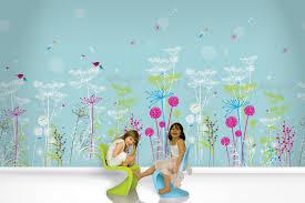 Kids Wallpaper For Bedroom Kids Bedroom Colorful Kid Room Design With Prairie Mural