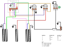 craig s giutar tech resource wiring diagrams 2 humbuckers 1 single coil 1 vol 1 tone 1 blend 5 way selector switch view diagram