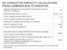 Wire Ampacity Chart Nec 2017 Dc Conductor Ampacity Calculations Help Northernarizona