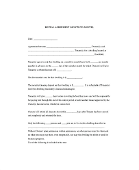 Month To Lease Agreements California Tenancy Agreement Template ...