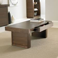 bentley designs akita walnut 1 drawer storage coffee table