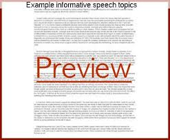 Example Informative Speech Topics, Coursework Academic Service