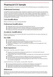 Sample Pharmacy Cv Resume And Cover Letter Resume And Cover Letter