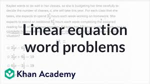 linear equation word problems basic example math