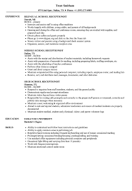 Receptionist Resume Examples School Receptionist Resume Samples Velvet Jobs 12