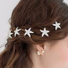 <b>3pcs Fashion</b> Starfish Crystal <b>Wedding</b> Party <b>Bridal</b> Prom Hair Pins ...