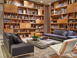 Picture of Cozy interior reading room design with sofa bed