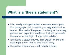 thesis statement main idea conclusion ppt video online what is a thesis statement