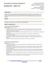 Inventory Control Resume Impressive Inventory Control Analyst Resume Samples QwikResume