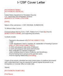 Cover Letter For I 129f Chechucontreras Com