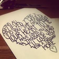 Image result for lyrics of the song a thousand years by christina perri