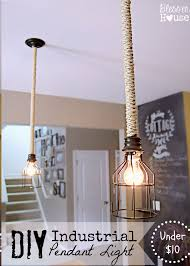 view bench rope lighting. interesting view bench rope lighting diy industrial pendant lamp with and a cage in