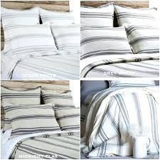medium size of growth ticking stripe bedding pom at home duvet cover gray and white red peak striped queen sheet set