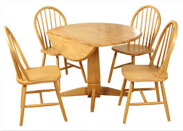 hanover round drop leaf dining set hanover round pedestal drop leaf dining set