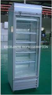 upright glass door freezer excelente