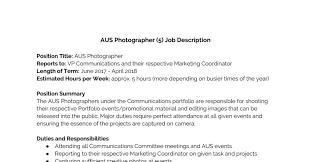 Aus Photographer 2 Job Description Docx Docdroid