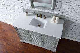 abstron 48 inch grey finish single cottage bathroom vanity optional countertops