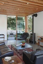Corrugated Metal Interior Design Corrugated Steel House With Warm Wood Details Throughout
