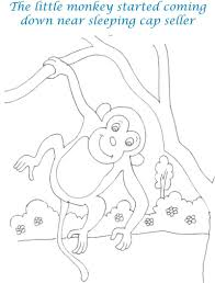 Small Picture Cap seller story coloring page for kids 8