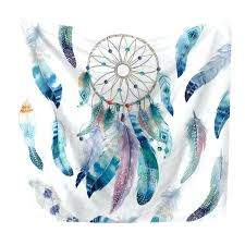 feather wall hanging new arrival watercolor tapestry dream catcher feathers wall hanging bohemian art carpet decorative feather wall hanging