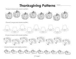 Kids. first grade fun worksheets: Making Patterns Thanksgiving ...