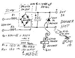 can i convert 230v ac to 12v dc by a resistor diode if can what noxfmr jpg