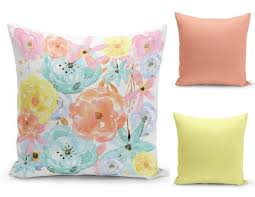 pastel throw pillows. Perfect Pillows Pastel Throw Pillow Cover Floral Pretty Covers Home  Decor Inside Pillows