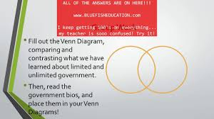 Limited And Unlimited Government Venn Diagram Reading Plus Answers For Level I