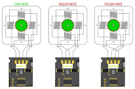 how to properly connect stepper motors