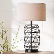 pottery barn cfl alana glass candlestick table lamp