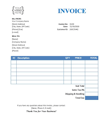 34+ Basic Invoice Template Word PNG