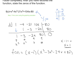 factoring 4th degree polynomials