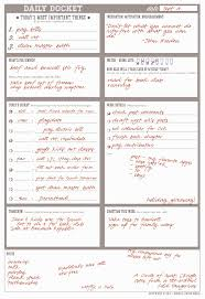 Daily To Do List Examples 11 Best Photos Of Free Printables Daily Planners Do Lists