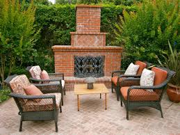 Of Outdoor Fireplaces Outdoor Brick Fireplaces Hgtv