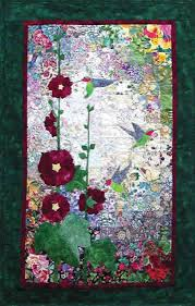 Hummingbirds & Hollyhocks Watercolor Quilt Kit | random ... & Hummingbirds & Hollyhocks Watercolor Quilt Kit Adamdwight.com