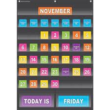 Classroom Calendar Pocket Chart Black Calendar Pocket Chart
