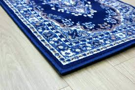 striped runner rug navy blue rugs catchy cotton