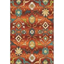 red and turquoise rug red fl bright colors 8 ft x ft indoor area rug red