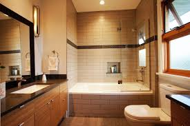Luxurious Large Bathroom With Alcove Soaking Bathtub Shower Combo And ..