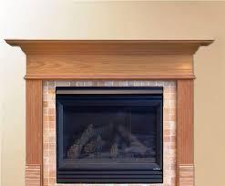 image of fireplace mantel kits wood