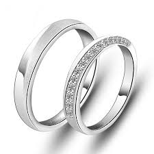 matching silver wedding bands. sterling silver cz his and hers matching wedding bands h