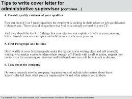 Administrative Supervisor Cover Letter Cover Letter Before Resume ...