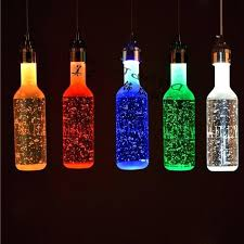 wine bottle pendant light hanging stained glass