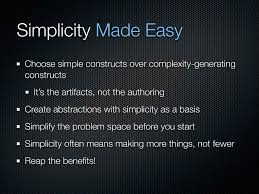 simple made easy