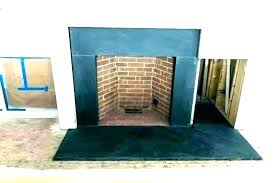 slate tile fireplace black ce tiles for herringbone marble ideas surround in alcove wall